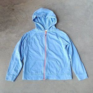 Boden Blue Full-Zip Hoodie 11-12 years